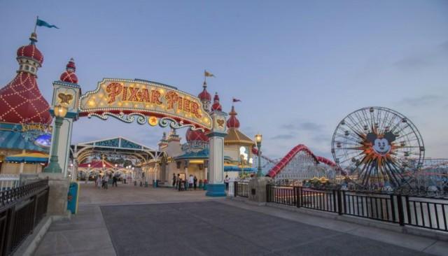 Opening of Pixar Pier