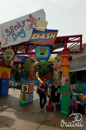 The entrance to Slinky Dog Dash